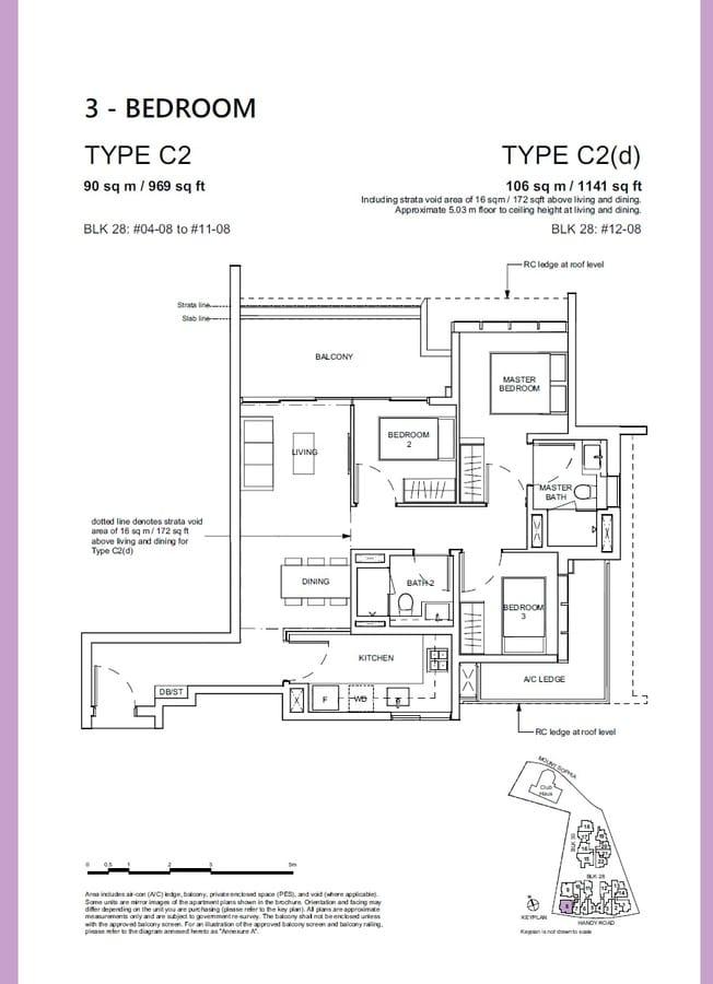 Haus On Handy Condo Floor Plan 3 Bedroom C2 C2d