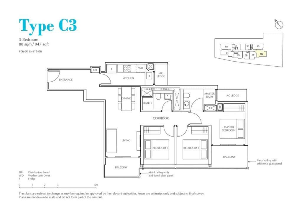 Jui-Residences-Condo-Floor-Plan-3-Bedroom-C3