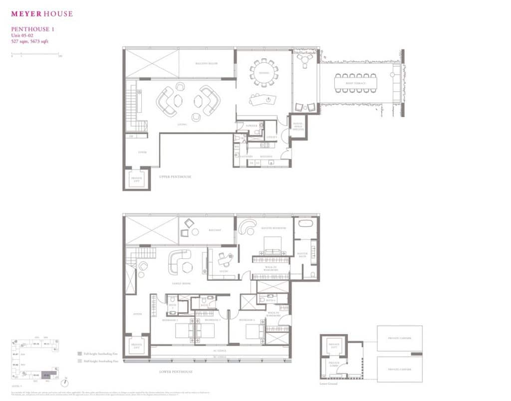 Meyer House Condo Floor Plan Penthouse 1