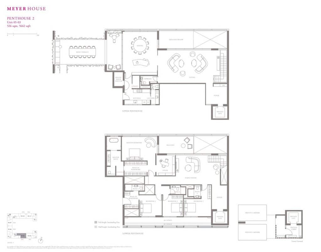 Meyer House Condo Floor Plan Penthouse 2