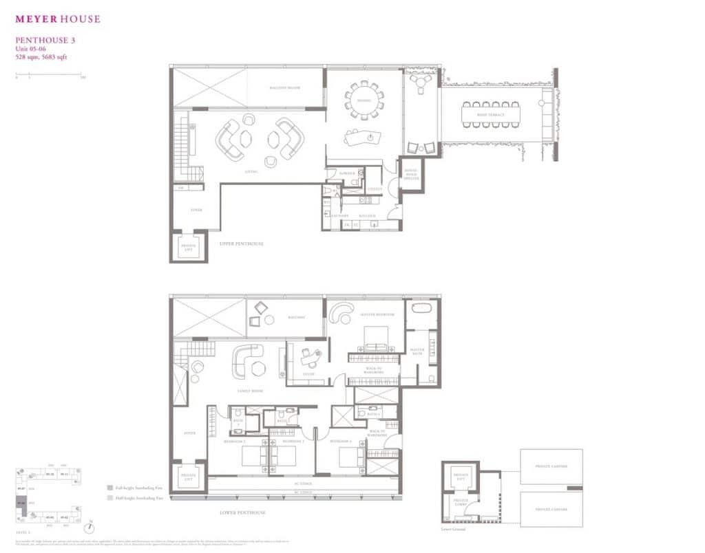 Meyer House Condo Floor Plan Penthouse 3