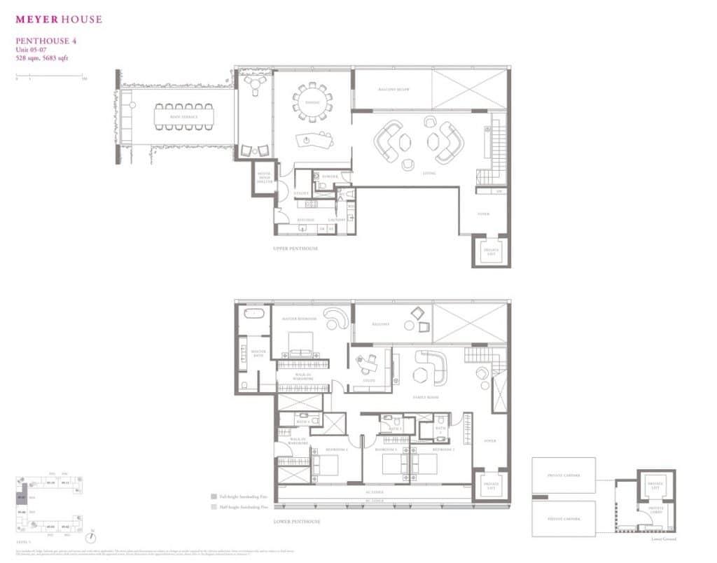 Meyer House Condo Floor Plan Penthouse 4