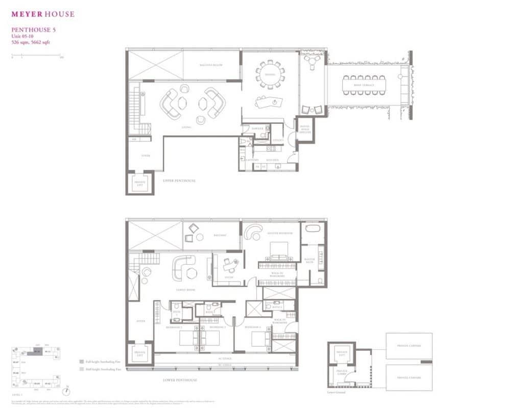 Meyer House Condo Floor Plan Penthouse 5