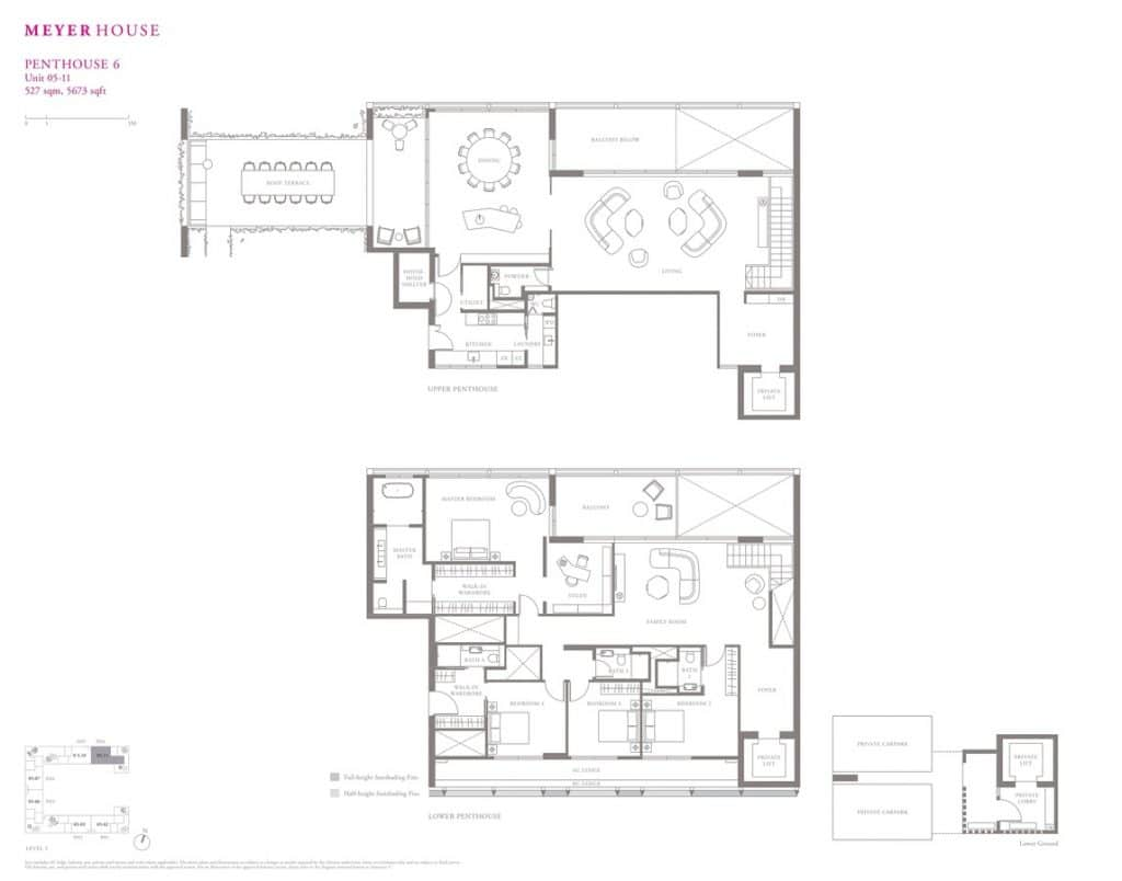Meyer House Condo Floor Plan Penthouse 6