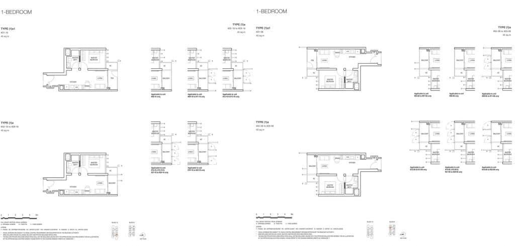 Midwood Condo Floor Plan 1 Bedroom 1a 1a1