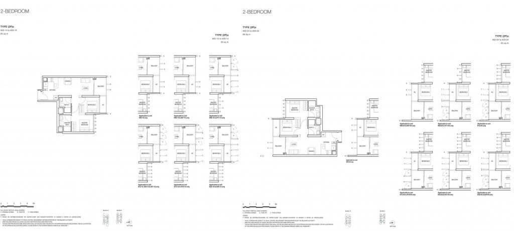 Midwood Condo Floor Plan 2 Bedroom 2Pa