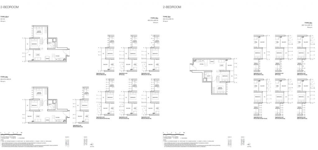 Midwood Condo Floor Plan 2 Bedroom 2a 2a1