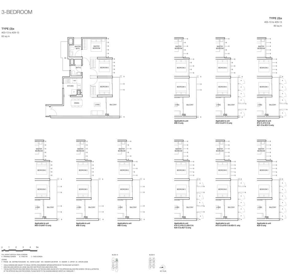 Midwood Condo Floor Plan 3 Bedroom 3a