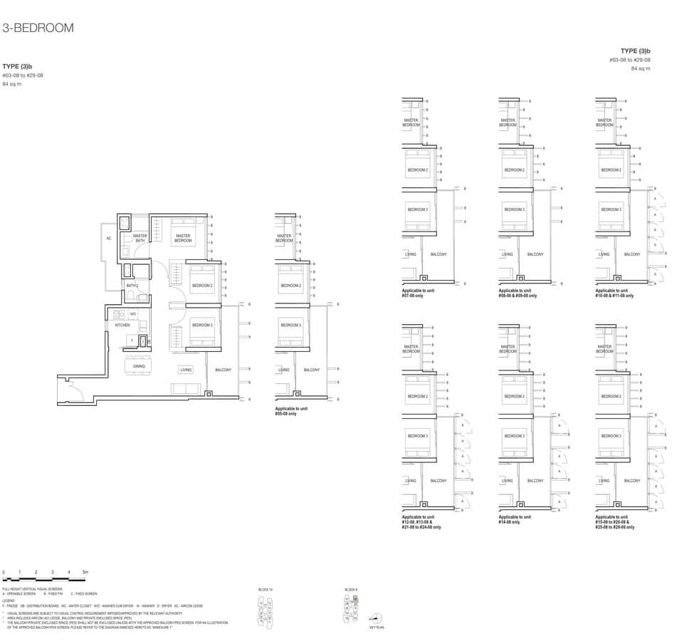 Midwood Condo Floor Plan 3 Bedroom 3b