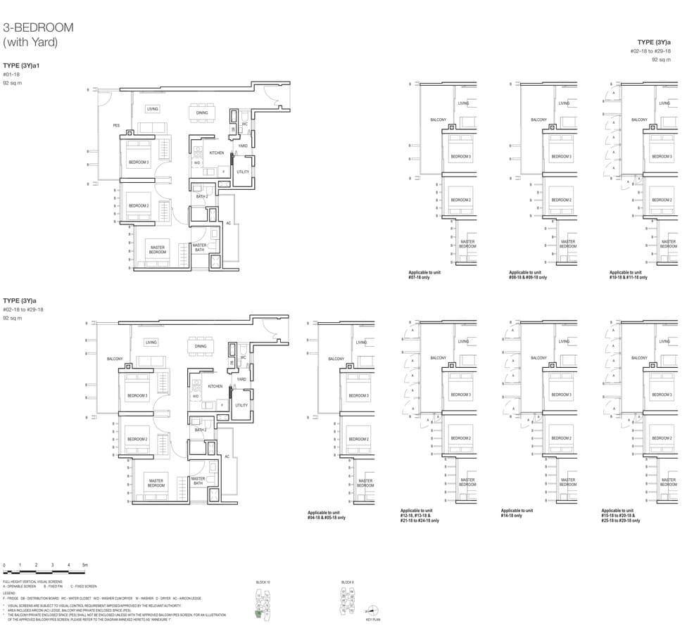 Midwood Condo Floor Plan 3 Bedroom Yard 3Ya 3Ya1