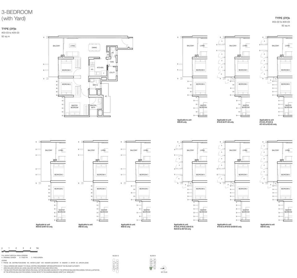 Midwood Condo Floor Plan 3 Bedroom Yard 3Yb