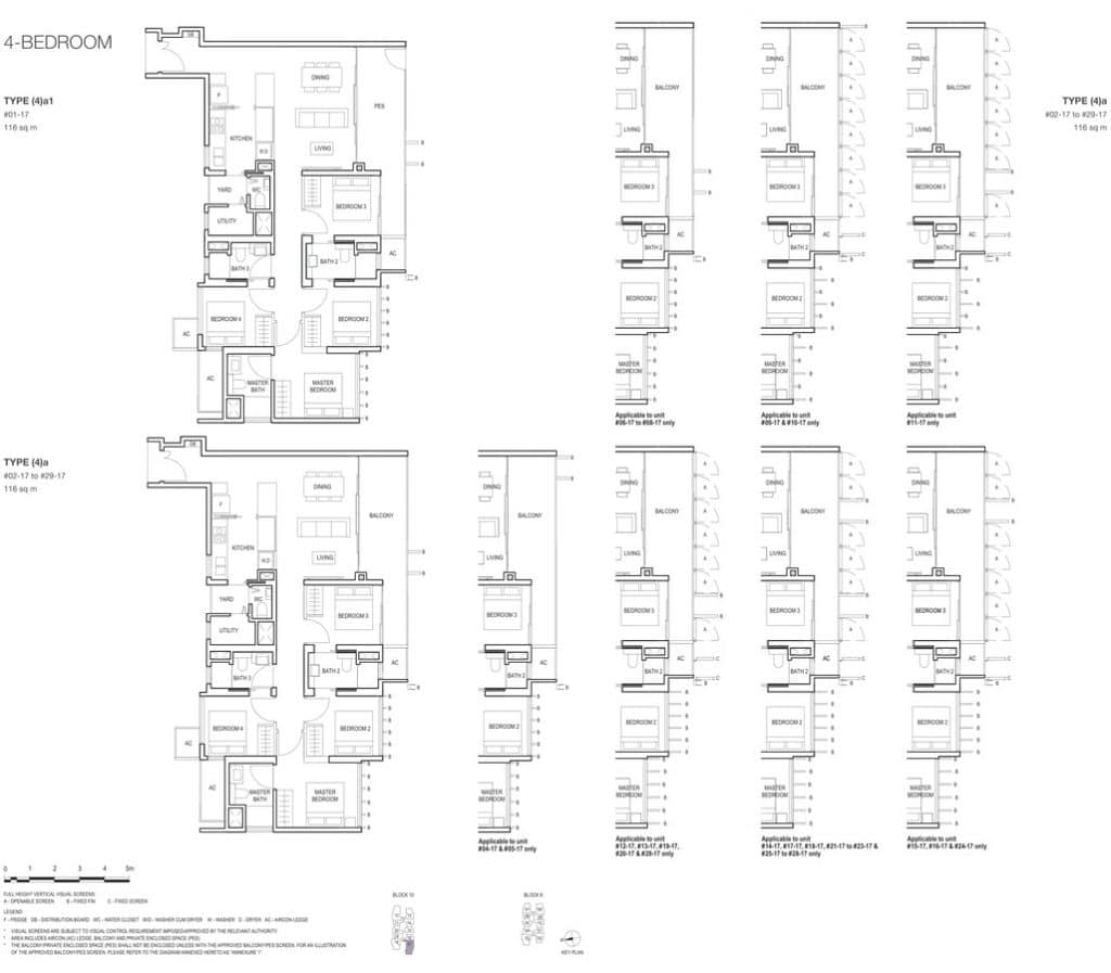 Midwood Condo Floor Plan 4 Bedroom 4a 4a1