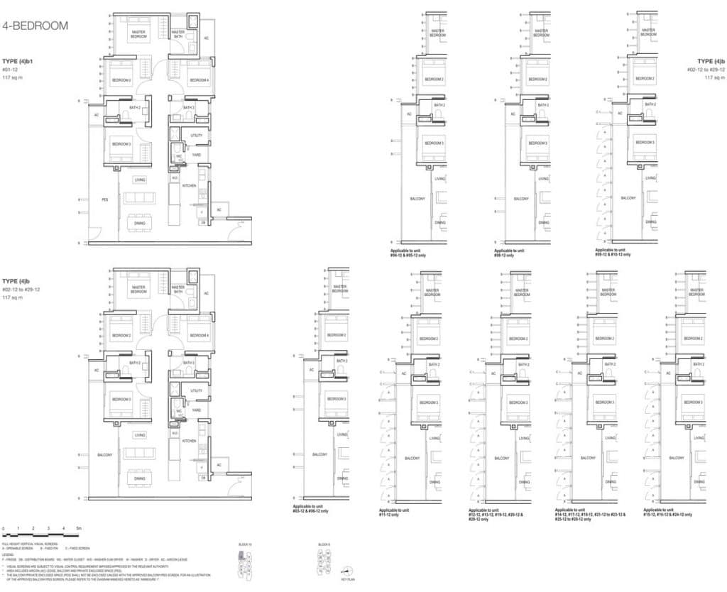 Midwood Condo Floor Plan 4 Bedroom 4b 4b1