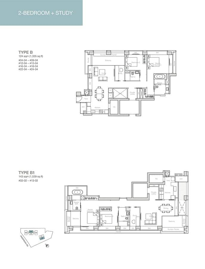 Nouvel-18-Condo-Floor-Plan-2-Bedroom-Study-B-B1