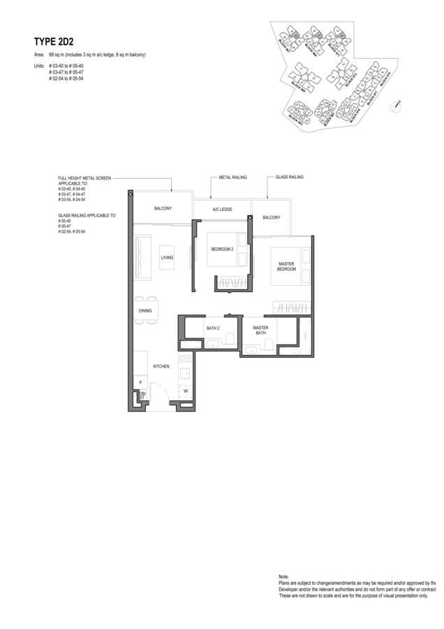Parc Komo Condo Floor Plan 2 Bedroom Deluxe 2D2