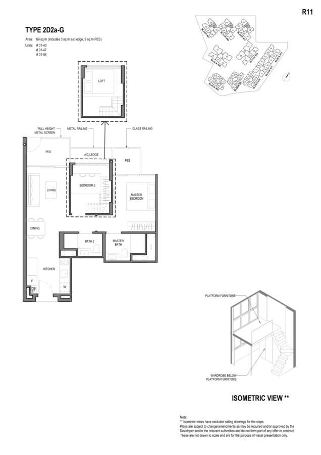 Parc Komo Condo Floor Plan 2 Bedroom Deluxe 2D2aG