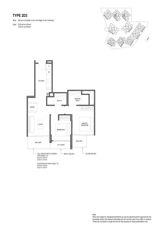 Parc Komo Condo Floor Plan 2 Bedroom Deluxe 2D3