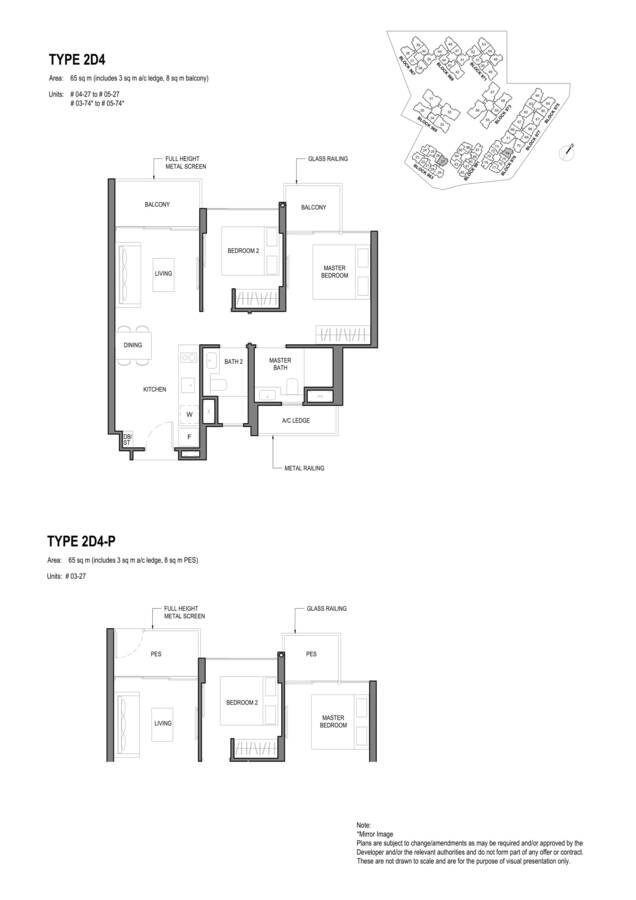 Parc Komo Condo Floor Plan 2 Bedroom Deluxe 2D4 2D4P