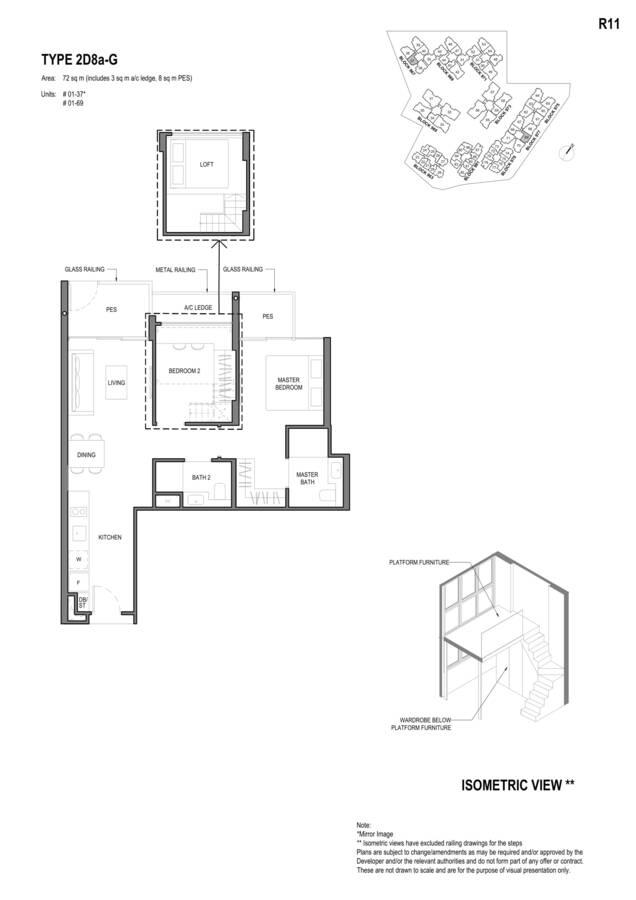Parc Komo Condo Floor Plan 2 Bedroom Deluxe 2D8aG