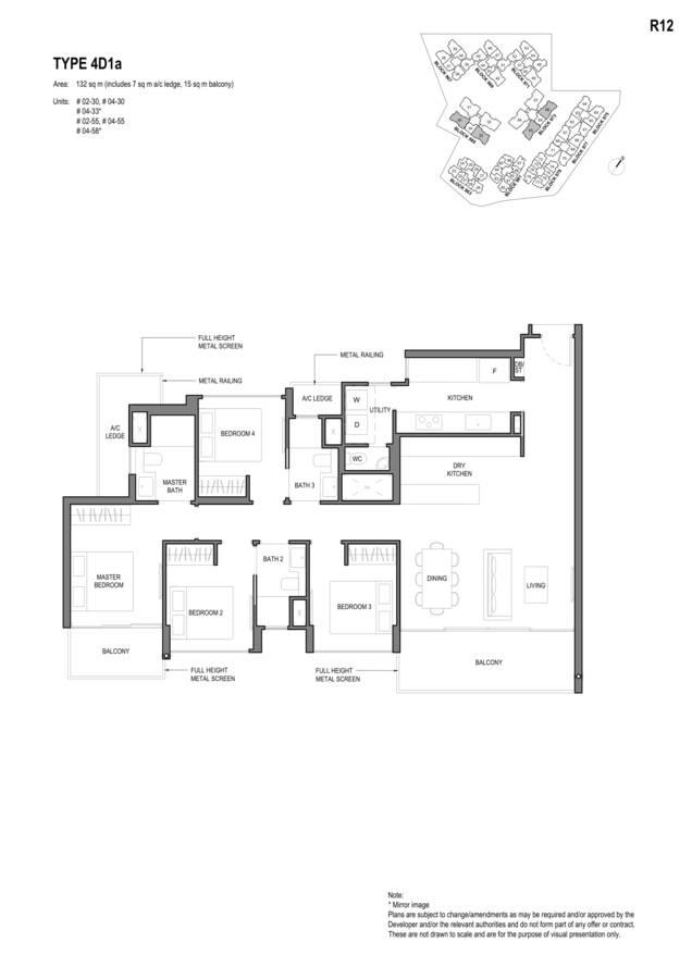Parc Komo Condo Floor Plan 4 Bedroom Deluxe 4D1a