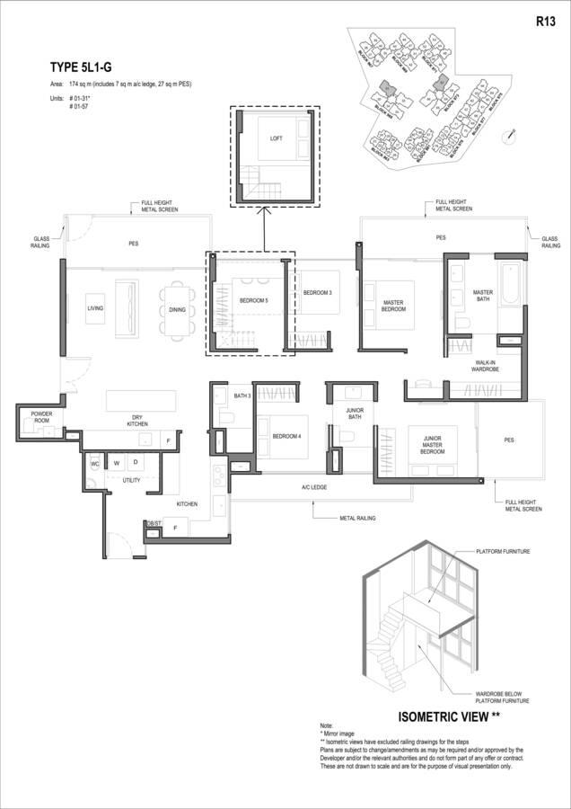 Parc Komo Condo Floor Plan 5 Bedroom Luxury 5L1G