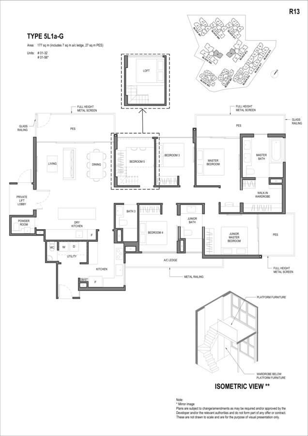 Parc Komo Condo Floor Plan 5 Bedroom Luxury 5L1aG