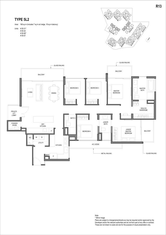 Parc Komo Condo Floor Plan 5 Bedroom Luxury 5L2
