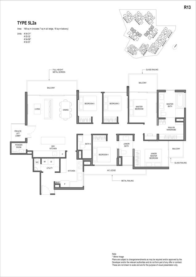Parc Komo Condo Floor Plan 5 Bedroom Luxury 5L2a