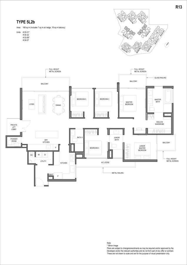 Parc Komo Condo Floor Plan 5 Bedroom Luxury 5L2b