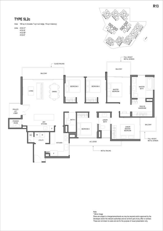 Parc Komo Condo Floor Plan 5 Bedroom Luxury 5L2c