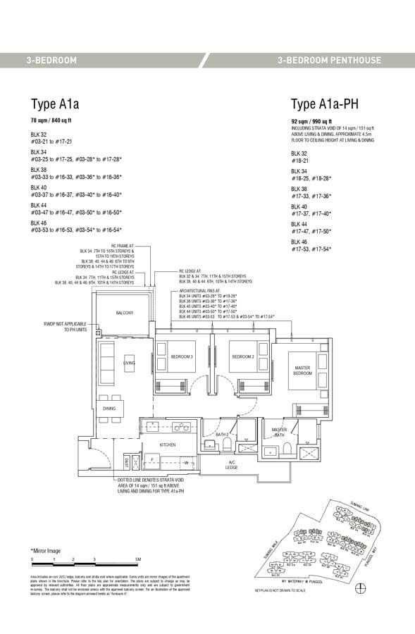 Piermont-Grand-EC-Floor-Plan-3-Bedroom-A1a-A1a-PH