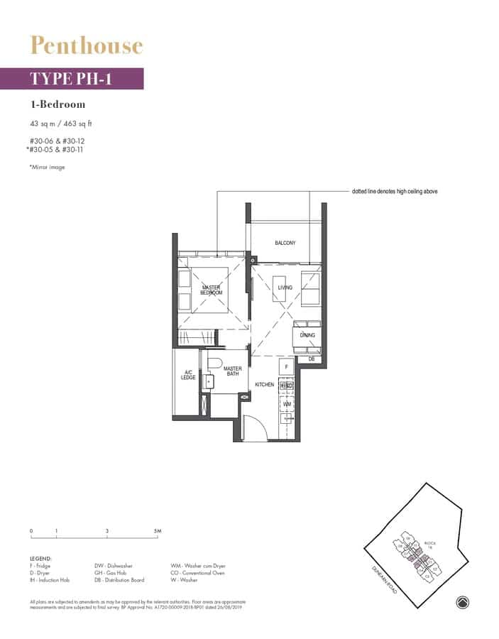 Pullman Residences Condo Floor Plan Penthouse PH1