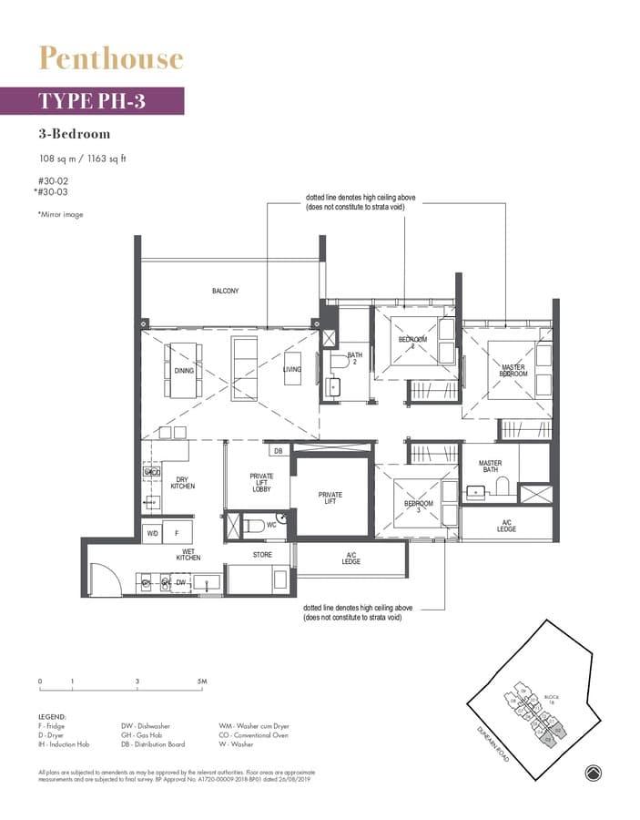 Pullman Residences Condo Floor Plan Penthouse PH3