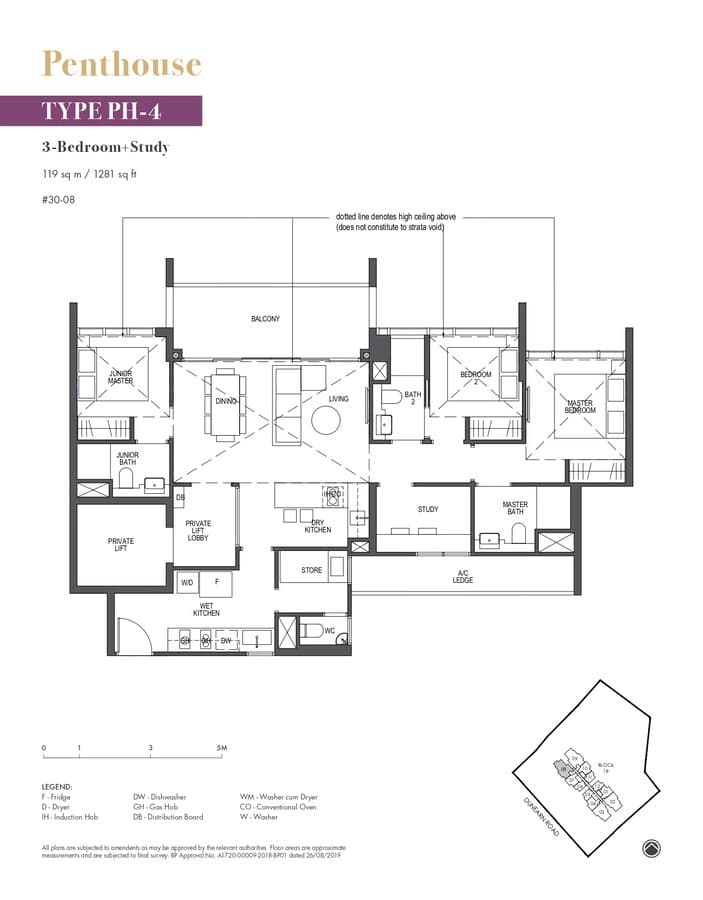 Pullman Residences Condo Floor Plan Penthouse PH4