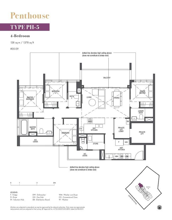 Pullman Residences Condo Floor Plan Penthouse PH5