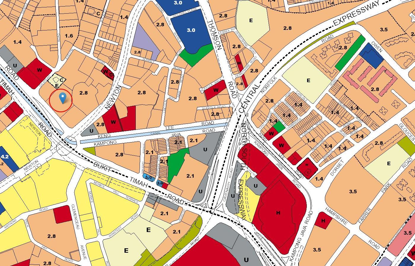 Pullman-Residences-Condo-URA-Master-Plan-Map