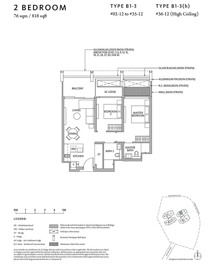 Riviere-Condo-Floor-Plan-Classic-2-Bedroom-B1-3