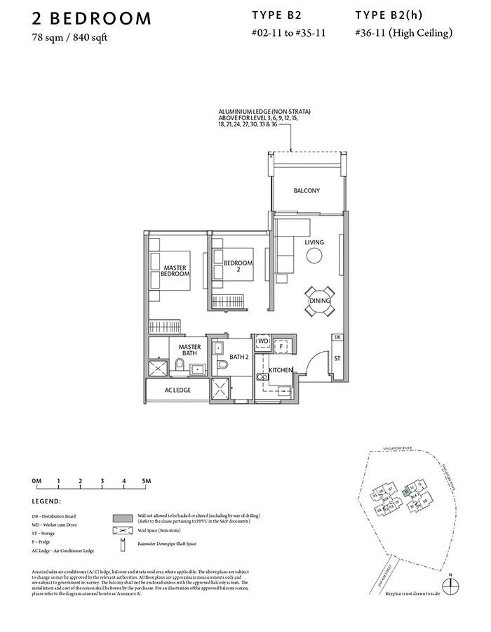 Riviere-Condo-Floor-Plan-Classic-2-Bedroom-B2