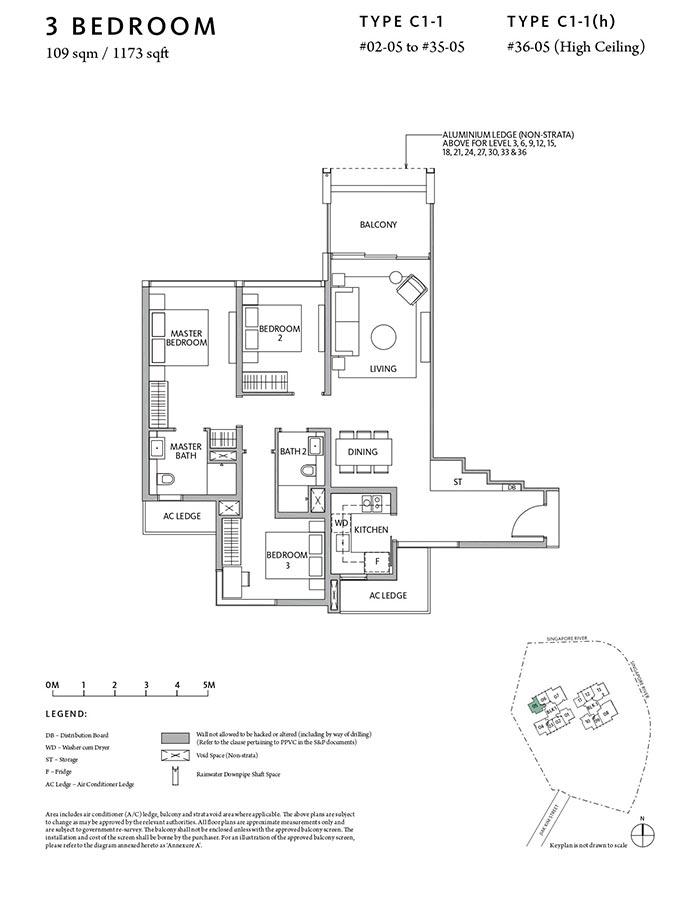 Riviere-Condo-Floor-Plan-Classic-3-Bedroom-C1-1
