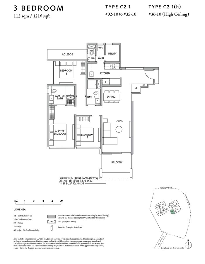 Riviere-Condo-Floor-Plan-Classic-3-Bedroom-C2-1