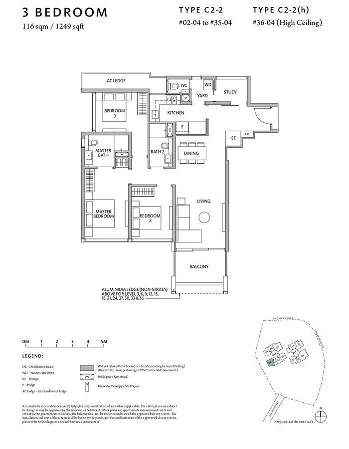 Riviere-Condo-Floor-Plan-Classic-3-Bedroom-C2-2