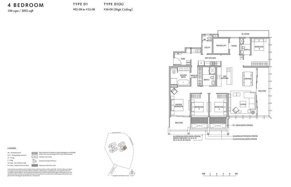 Riviere-Condo-Floor-Plan-Premium-4-Bedroom-D1