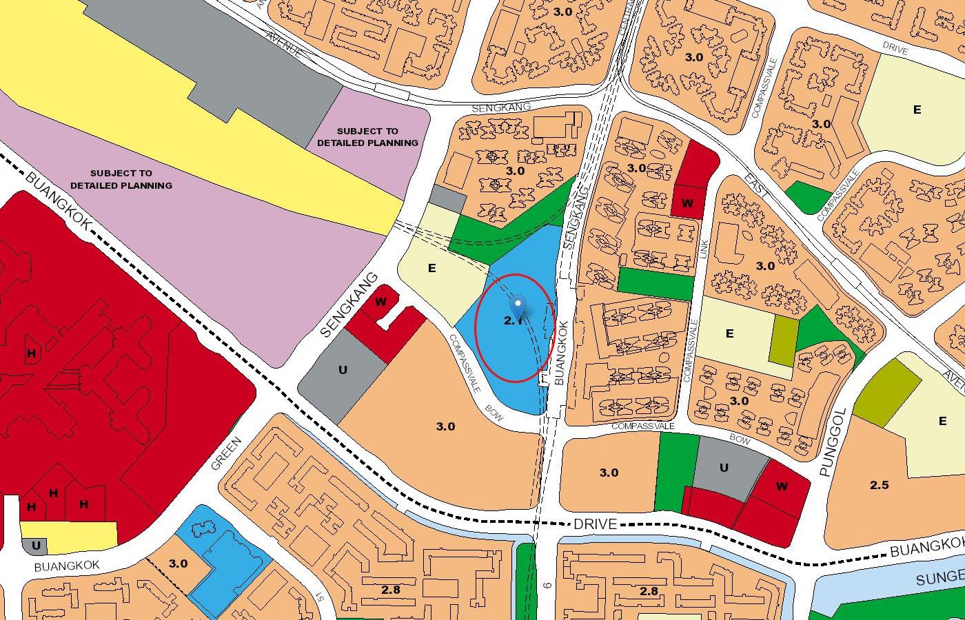 Sengkang-Grand-Residences-Condo-URA-Master-Plan-Map