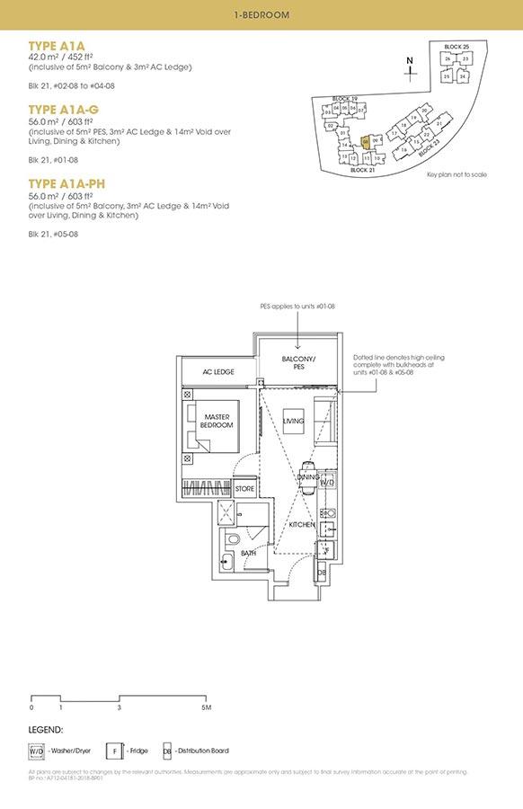 The-Antares-Condo-Floor-Plan-1-Bedroom-A1A