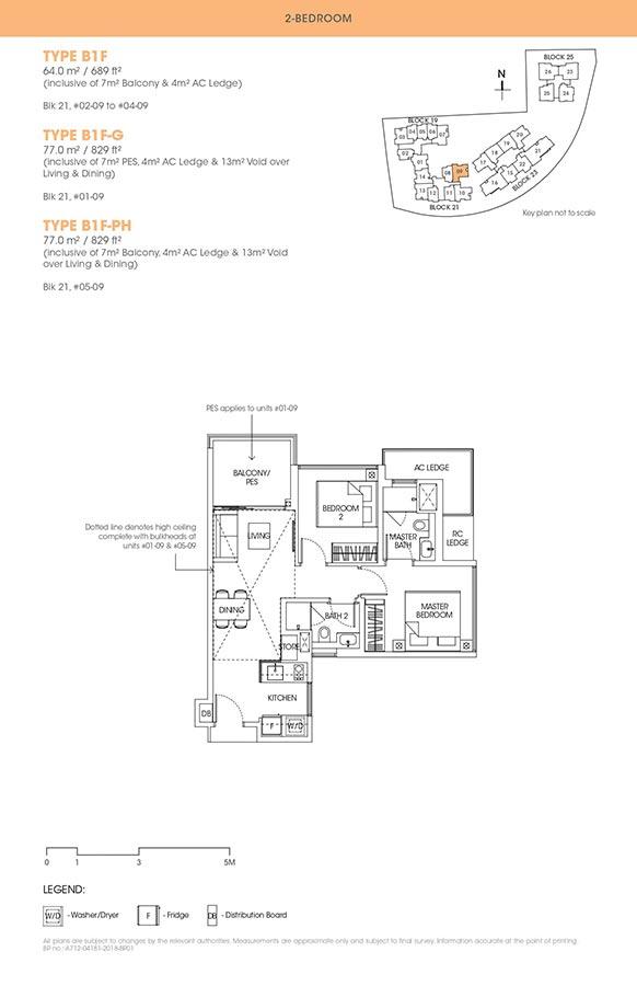 The-Antares-Condo-Floor-Plan-2-Bedroom-B1F
