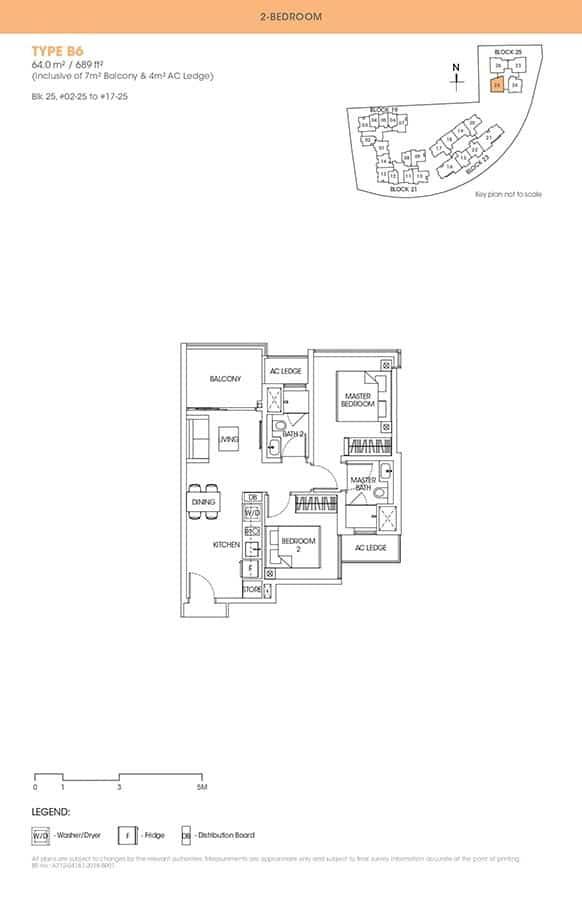The-Antares-Condo-Floor-Plan-2-Bedroom-B6