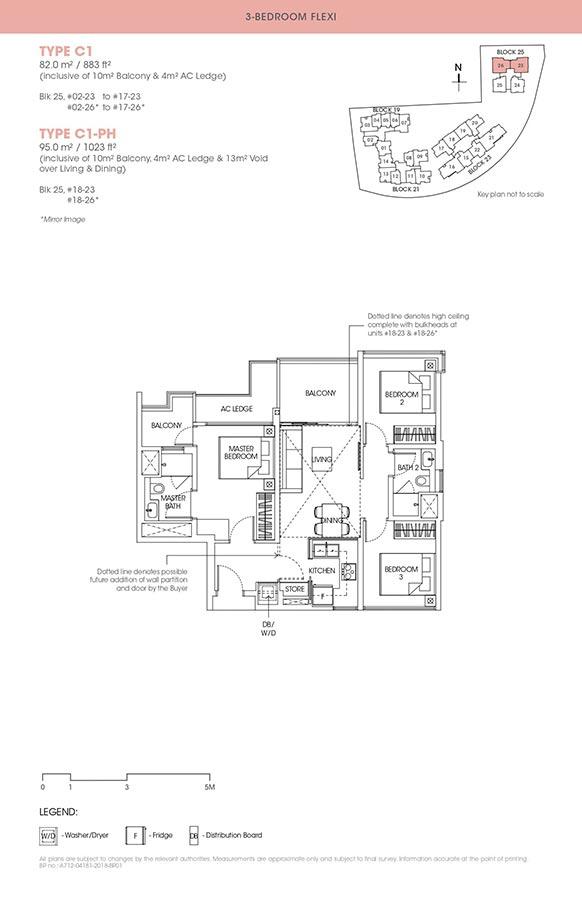 The-Antares-Condo-Floor-Plan-3-Bedroom-Flexi-C1