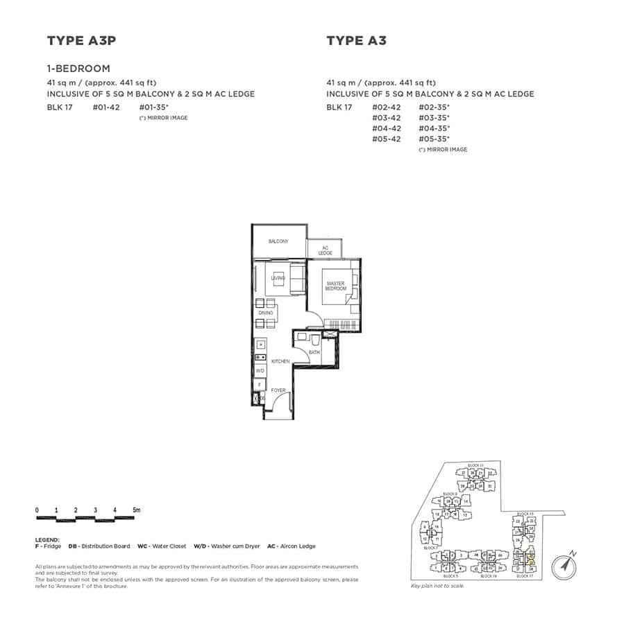The-Gazania-Condo-Floor-Plan-1-Bedroom-A3-A3P