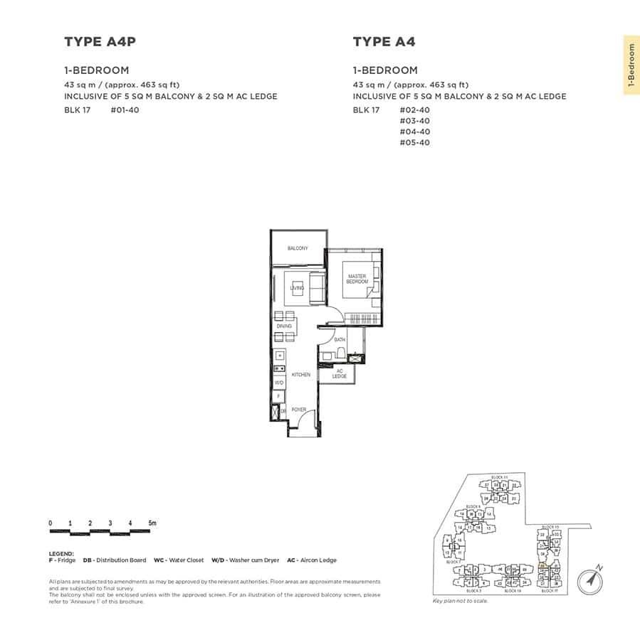 The-Gazania-Condo-Floor-Plan-1-Bedroom-A4-A4P