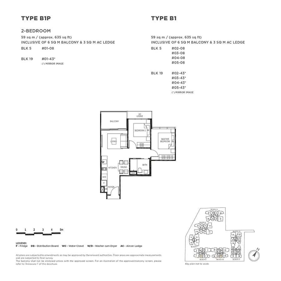 The-Gazania-Condo-Floor-Plan-2-Bedroom-B1-B1P